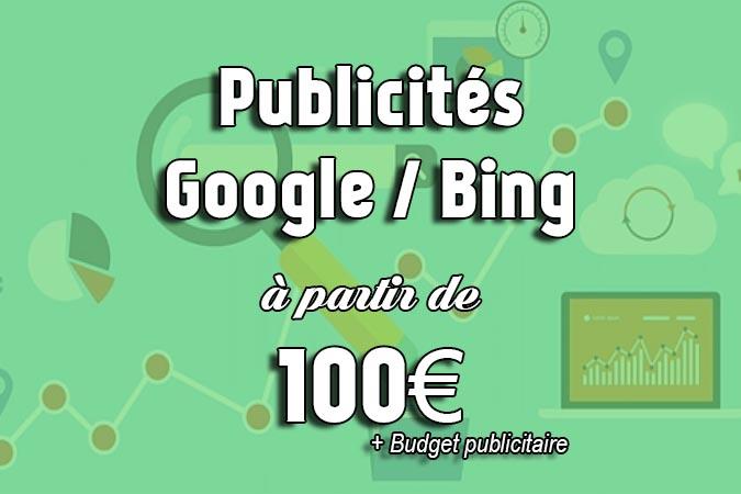 offre publicités Google/Bing